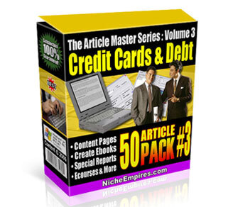 AMS Volume 3: Credit Cards and Debt with Private Label Rights (PLR)