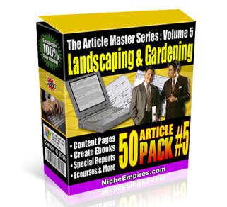 AMS Volume 5: Landscaping and Gardening with Private Label Rights (PLR)