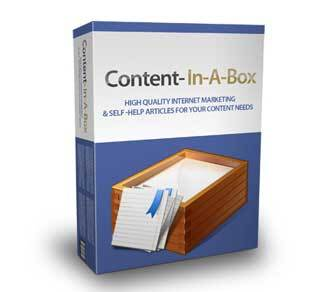 Content in a Box with Master Resale Rights (MRR)