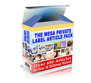 The Mega Private Label Article Pack with Private Label Rights (PLR)
