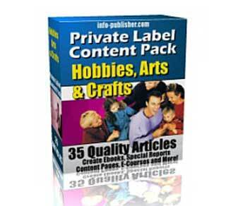Private Label Content Pack 4 – Hobbies, Arts and Crafts with Private Label Rights (PLR)