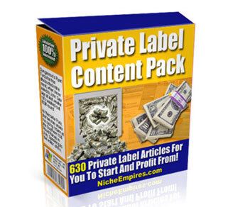 Private Label Content Pack with Private Label Rights (PLR)