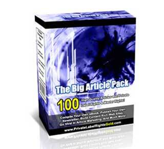 The Big Article Pack with Private Label Rights (PLR)